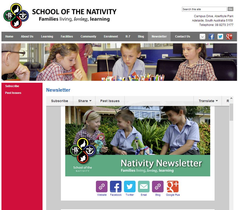 nativity newsletter