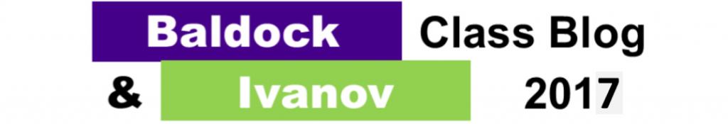 Baldock & Ivanov Class Blog